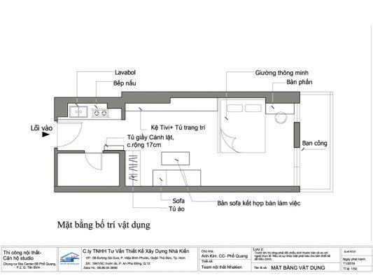 Thiết kế và thi công căn hộ Studo Sky Center