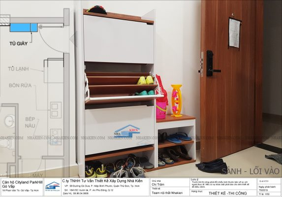 Tủ giầy Cánh lật, tối ưu diện tích cho Sảnh vào