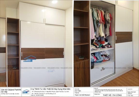 Tủ áo Cánh cửa lùa cho không gian cần tiết kiệm diện tích