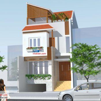 Thiết kế Nhà phố 7mx18m 3 tầng