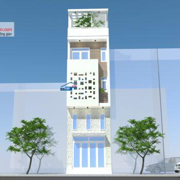 nhà phố mặt tiền 4m 4 tầng
