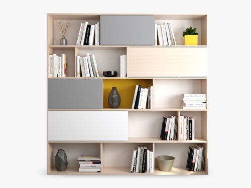 Kệ sách trang trí phòng khách NKKS4A