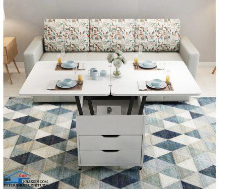 Bàn sofa thông minh kết hợp bàn ăn nkt09A