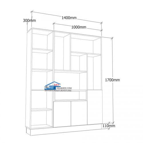 Kích thước Vách ngăn gỗ phòng khách
