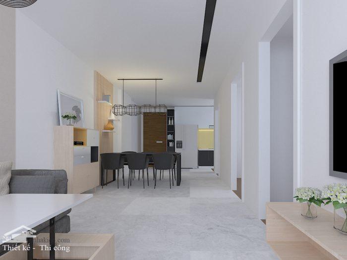 Thiết kế nội thất chung cư cityland park hills 2 phòng ngủ