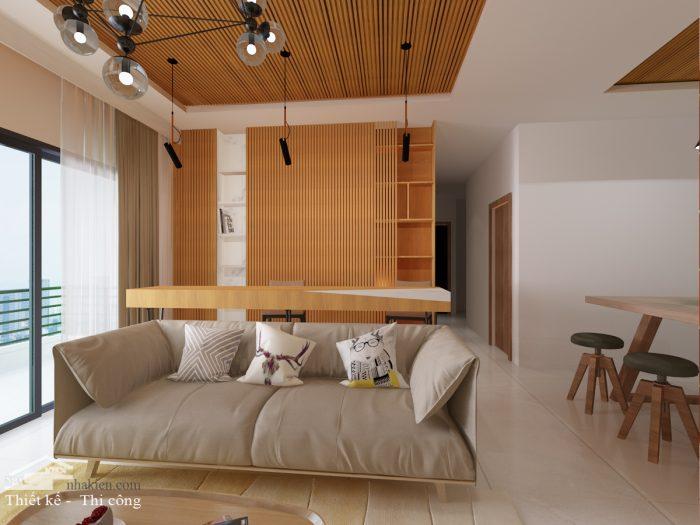 Thiết kế nội thất chung cư Palm Heights 3 phòng ngủ