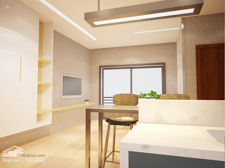 Thiết kế nội thất chung cư Palm Heights 2 phòng ngủ