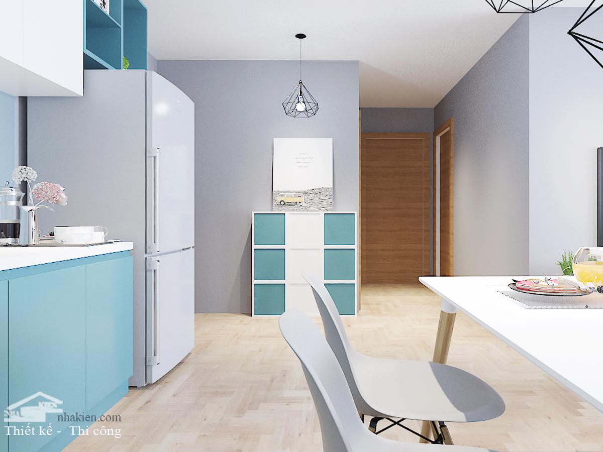 Thiết kế nội thất lối vào căn hộ Masteri an phú