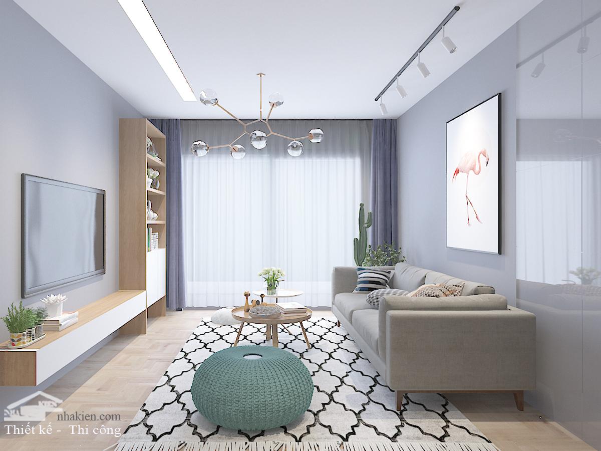 Thiết kế nội thất phòng khách căn hộ Masteri an phú