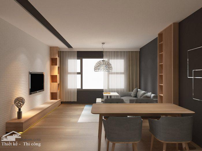 Thiết kế nội thất chung cư flora novia