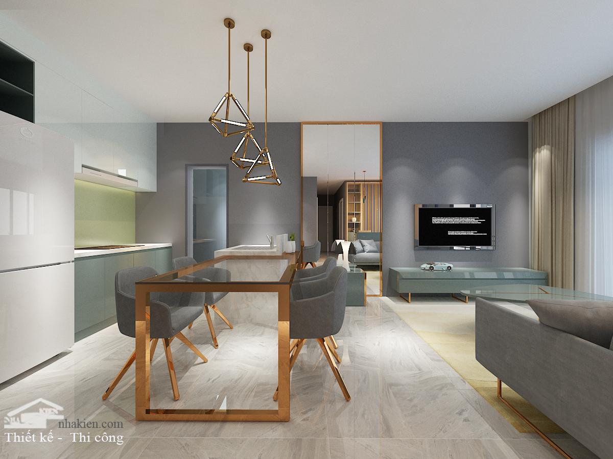 Thiết kế nội thất chung cư masteri an phú 3 phòng ngủ NKAP2