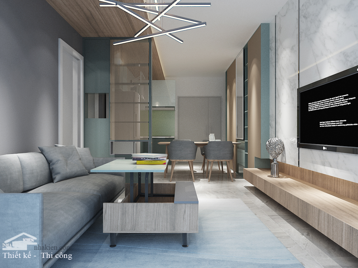 Thiết kế nội thất chung cư saigon mia