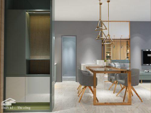 Thiết kế nội thất sảnh vào chung cư masteri an phú 3 phòng ngủ NKAP2