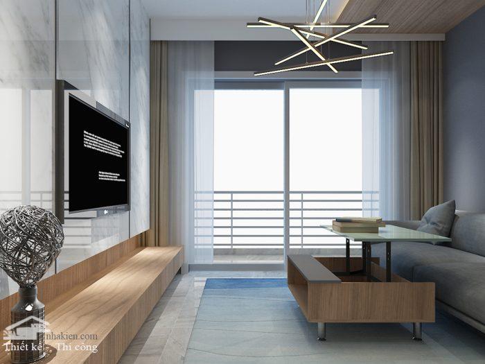 Thiết kế phòng khách chung cư Saigon Mia